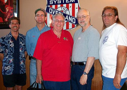 Eric Fauskin, Bill Dick, J. R. Newcomb, Bill Sever and Butch Peacock - Past Presidents all....